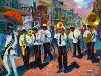 New Orleans Second Line (artwork by Bob Graham)